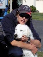Jasper with her loving Aussie Pooch Mobile operator Jayne