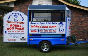Aussie Pooch Mobile dog wash trailer