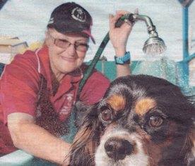 seniors working with animals